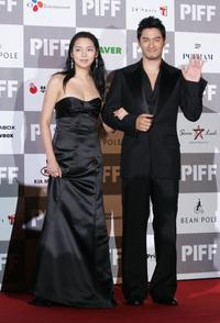 Si-Yeon and Ju Jin-mo at the 12th Pusan International Film Festival.