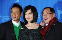 Simon Yam, Kelly Lin and Director Johnnie at the photocall of