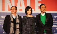 Director Johnnie To, Kelly Lin and Simon Yam at the photocall of