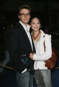 Kristin Kreuk and her guest at the premiere of