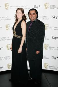 Charity Wakefield and Sanjeev Bhaskar at the British Academy Television Awards 2008.