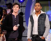 Logan Lerman and Brandon T. Jackson at the BET's