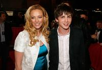 Virginia Madsen and Logan Lerman at the Los Angeles premiere of