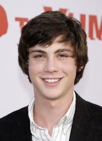 Logan Lerman at the premiere of