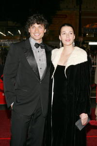 Tom Welling and Guest at the premiere of