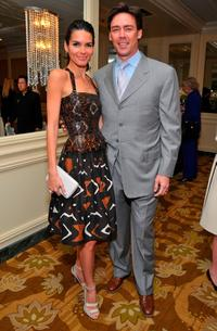 Angie Harmon and husband Jason Sehorn at the Saks Fifth Avenue's 20th Annual Spring Luncheon.