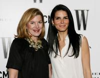 Virginia Healey and Angie Harmon at the Inaugural Avant-Garde Gala hosted by W Magazine and LACMA.
