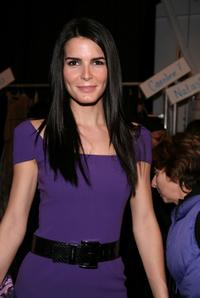 Angie Harmon at the Michael Kors Fall 2008 fashion show.