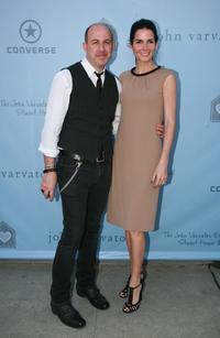 John Varvatos and Angie Harmon at the John Varvatos 6th Annual Stuart House Benefit.
