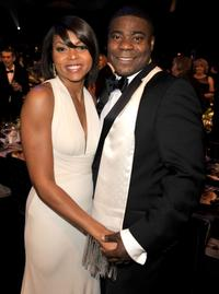 Taraji P. Henson and Tracy Morgan at the 15th Annual Screen Actors Guild Awards cocktail party.