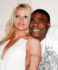 Pamela Anderson and Tracy Morgan at the premiere of