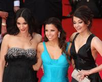 Rachida Brakni, Eva Longoria and Aishwarya Rai at the premiere of