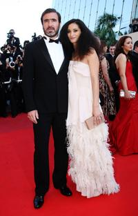 Eric Cantona and Rachida Brakni at the premiere of