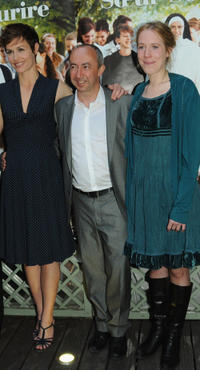 Cecile de France, director Stijn Coninx and Christelle Cornil at the Paris premiere of