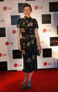 Camilla Rutherford at the launch party for Scarlet TV.