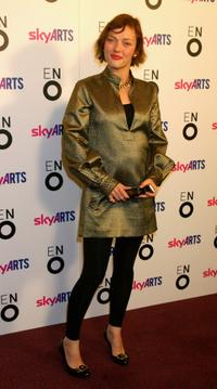 Camilla Rutherford at the ENO's Aida Press Night.