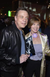 Mark Hamill and his wife Marilou York at the after-party for the premiere of