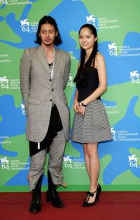 Joe Odagiri and Aoi Miyazaki at the 64th Venice Film Festival.