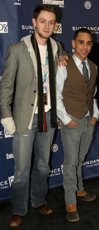 Matt O'Leary and Ray Santiago at the premiere of