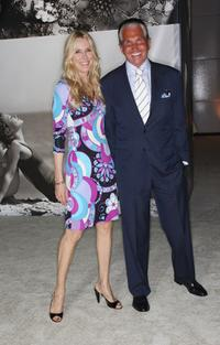 Alana Stewart and George Hamilton at the Vanity Fair Portraits: Photographs 1913-2008 Exhibit grand opening party.