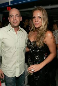 Bob Yari and Agnes Bruckner at the after party of