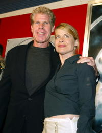 Linda Hamilton and Ron Perlman at the premiere of