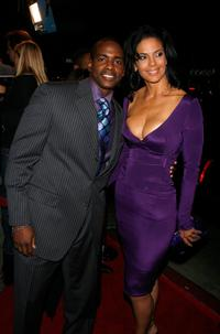 Keith Robinson and Amy Hunter at the premiere of
