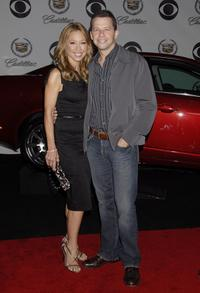 Lisa Joyner and Jon Cryer at the CBS celebration of Monday night season premieres.