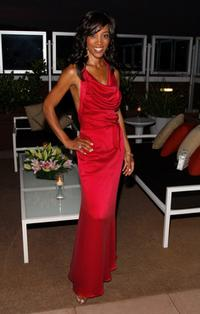 Shaun Robinson at the birthday party at Blu Beverly Hills.