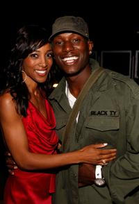 Shaun Robinson and Tyrese Gibson at the birthday party at Blu Beverly Hills.