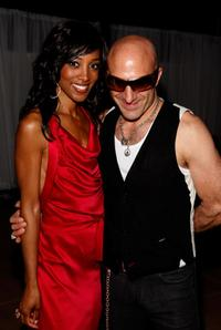 Shaun Robinson and Kenny Aronoff at the birthday party at Blu Beverly Hills.