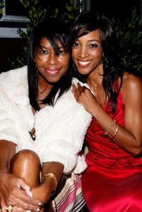 Natalie Cole and Shaun Robinson at the birthday party at Blu Beverly Hills.