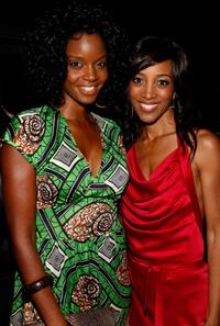 Tomika Fraser and Shaun Robinson at the birthday party at Blu Beverly Hills.