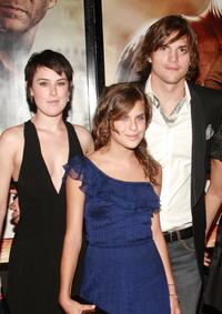 Ashton Kutcher, Tallulah Belle Willis and Rumer at the premiere of