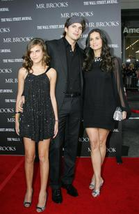 Tallulah Belle Willis, Ashton Kutcher and Demi Moore at the premiere of