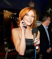 Lindy Booth at the premiere of