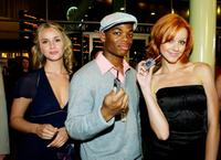 Erica Yates, Paul James and Lindy Booth at the premiere of