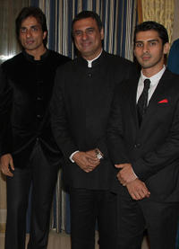 Sonu Sood, Boman Irani and Sammir Dattani at the premiere of