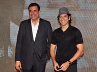 Boman Irani and Farhan Akhtar at the Hyatt Hotel in Mumbai.