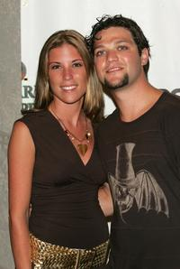 Bam Margera and Guest at the Ocean Drive Magazine Music 05 party.