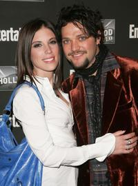 Missy Margera and Bam Margera at the Entertainment Weekly Academy Awards viewing party.