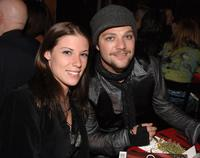 Bam Margera and Guest at the Entertainment Weekly's Oscar viewing party.