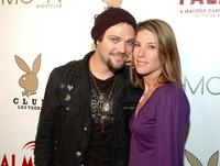 Bam Margera and Jennifer Rivell at the Playboy Club in Las Vegas.