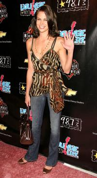 Brooke Burns at the Star 98.7's, second annual lounge for life concert.