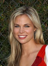 Brooke Burns at the American Idol grand finale broadcast.