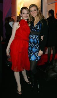 Karoline Herfurth and Nina Eichinger at the Zac Posen fashion show during the Mercedes Benz Fashion week.