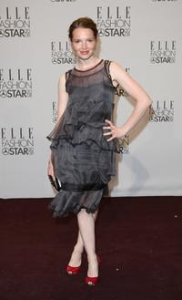 Karoline Herfurth at the ELLE Fashion Star award ceremony during the Mercedes Benz Fashion Week.