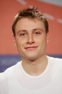 Max Riemelt at the press conference of