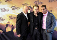 Uwe Ochsenknecht, Max Riemelt and Andreas Niedrig at the Germany premiere of