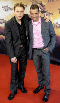 Max Riemelt and Andreas Niedrig at the Germany premiere of